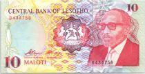 Lesotho 10 Maloti Roi Moshoeshoe II - Cavalier de Bashotho - 1990