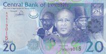 Lesotho 20 Maloti Roi Letsie III - Village - 2013