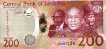 Lesotho 200 Maloti Roi Letsie III - Cavalier - 2015
