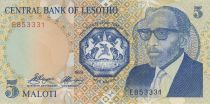 Lesotho 5 Maloti Roi Moshoeshoe II - Chutes