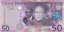 Lesotho 50 Maloti Roi Letsie III - Paysage - 2013