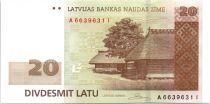 Lettland 20 Latu Rural homestead - 2009