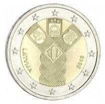 Lettonie 2 Euro 100 ans Pays Baltes - 2018