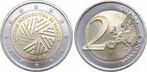 Lettonie 2 Euro Présidence du Conseil Européen - 2015