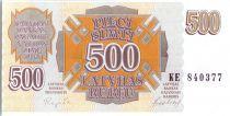 Lettonie 500 rublu Motifs géométriques - 1992