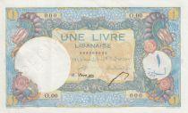 Liban 1 Livre 1945 - Banque de Syrie et du Liban - Spécimen - P.48s