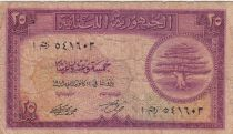 Liban 25 Piastres Cèdre - Lion - 1948