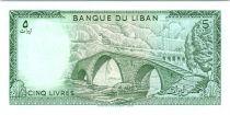 Liban 5 Livres Pont de pierre - 1986