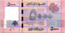 Liban 5000 Livres Motifs géométriques - Arbre - 2012