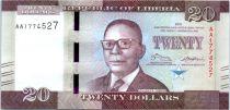 Liberia 20 Dólares, W. V. S Tubman - Mercado - 2016