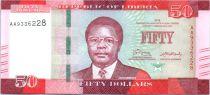 Liberia 50 Dollars, S. Kayon Doe - Palmier - 2016