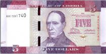 Liberia New1.2016 5 Dollars, E. J. Roye - Paysanne - 2016