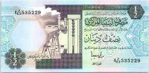 Libia 1/2 Dinar Refinería - Sistema de irrigación - 1991
