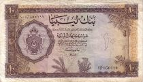 Libya 10 Pound Arms