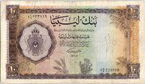 Libya 10 Pounds  Arms - 1963