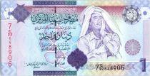 Libye 1 Dinar - Mouammar Kadhafi - Mosquée - 2009