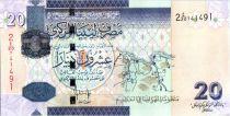 Libye 20 Dinars - Carte de l\'Afrique du Nord - Leaders - 2009