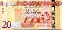 Libye 20 Dinars, Murailles et Ville - 2016 (impression Russe)