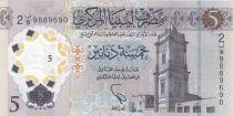 Libye 5 Dinars, Monuments - 2021 - Polymer - Neuf