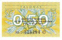 Lituanie 0.50 Talonas Feuilles - Armoiries