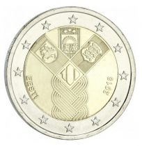 Lituanie 2 Euro 100 ans Pays Baltes - 2018