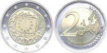 Lituanie 2 Euro 30 ans du Drapeau Européen - 2015