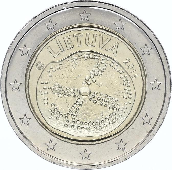 Lituanie 2 Euro Culture Baltique - 2016