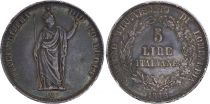 Lombardy-Venetia 5 Lire Laurel Wreath - Italia - 1848