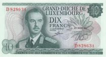 Lussemburgo 10 Francs Grand Duc Jean - Factory - 20-03-1967