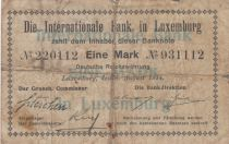 Luxembourg 1 Mark - Internationale Bank in Luxembourg - 1914 - P.6 - B+/p.TB