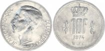 Luxembourg 10 Francs Duke Jean - 1974