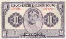 Luxembourg 10 Francs Grande Duchesse Charlotte - 1944 - TTB