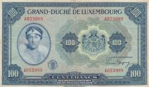 Luxembourg 100 Francs Grand Duchess Charlotte - 1944 - F