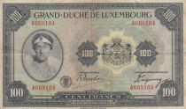Luxembourg 100 Francs Grande Duchesse Charlotte - 1934 - Série A - TB