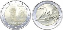 Luxembourg 2 Euro 15 ans accession au trône Grand Duc Henri - 2015