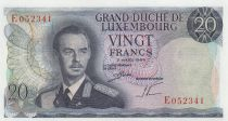 Luxembourg 20 Francs Grand Duc Jean - 07-03-1966 Serial E