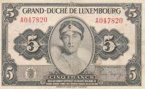 Luxembourg 5 Francs Grande Duchesse Charlotte - 1944 - Série A - TTB