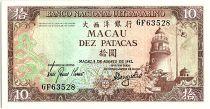 Macao 10 Patacas, Lighthouse - Praia Grande - 1981 P.59 b GF