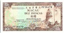 Macao 10 Patacas, Phare - Baie de Praia Grande - 1981 P.59 b