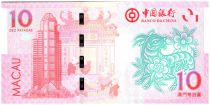 Macao 10 Patacas Année de la Chèvre - Bank of China - 2015