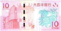 Macao 10 Patacas Année de la Chèvre - BNU - 2015