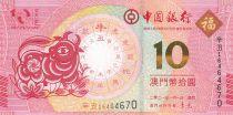 Macao 10 Patacas Année du Buffle - Banco da China - 2021 - Neuf