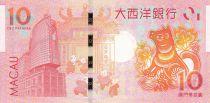 Macao 10 Patacas Année du Chien - BNU - 2018