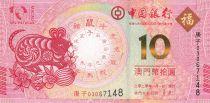 Macao 10 Patacas Rat year\'s - Banco da China  2020 - UNC