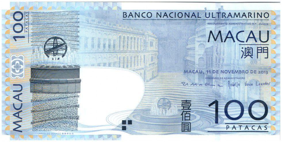 Macao 100 Patacas Sénat - Imm. Banque