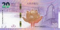 Macao 20 Patacas Retour de Macao à la Chine - BNU- 2019 NEUF