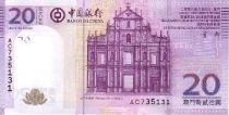 Macao 20 Patacas Ruins of S. Paulo - Bank bdlg 2013