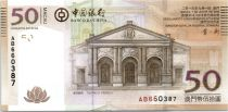 Macao 50 Patacas, Theater of D. Pedro V - Bank bdlg - 2008