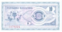 Macédoine 10 Denari 1992 - Monument