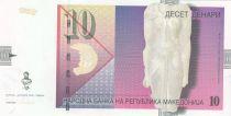 Macédoine 10 Denari 2008 - Statue, mosaïque paon